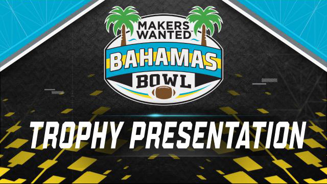 Makers Wanted Bahamas Bowl Trophy Ceremony (Bowl Game)