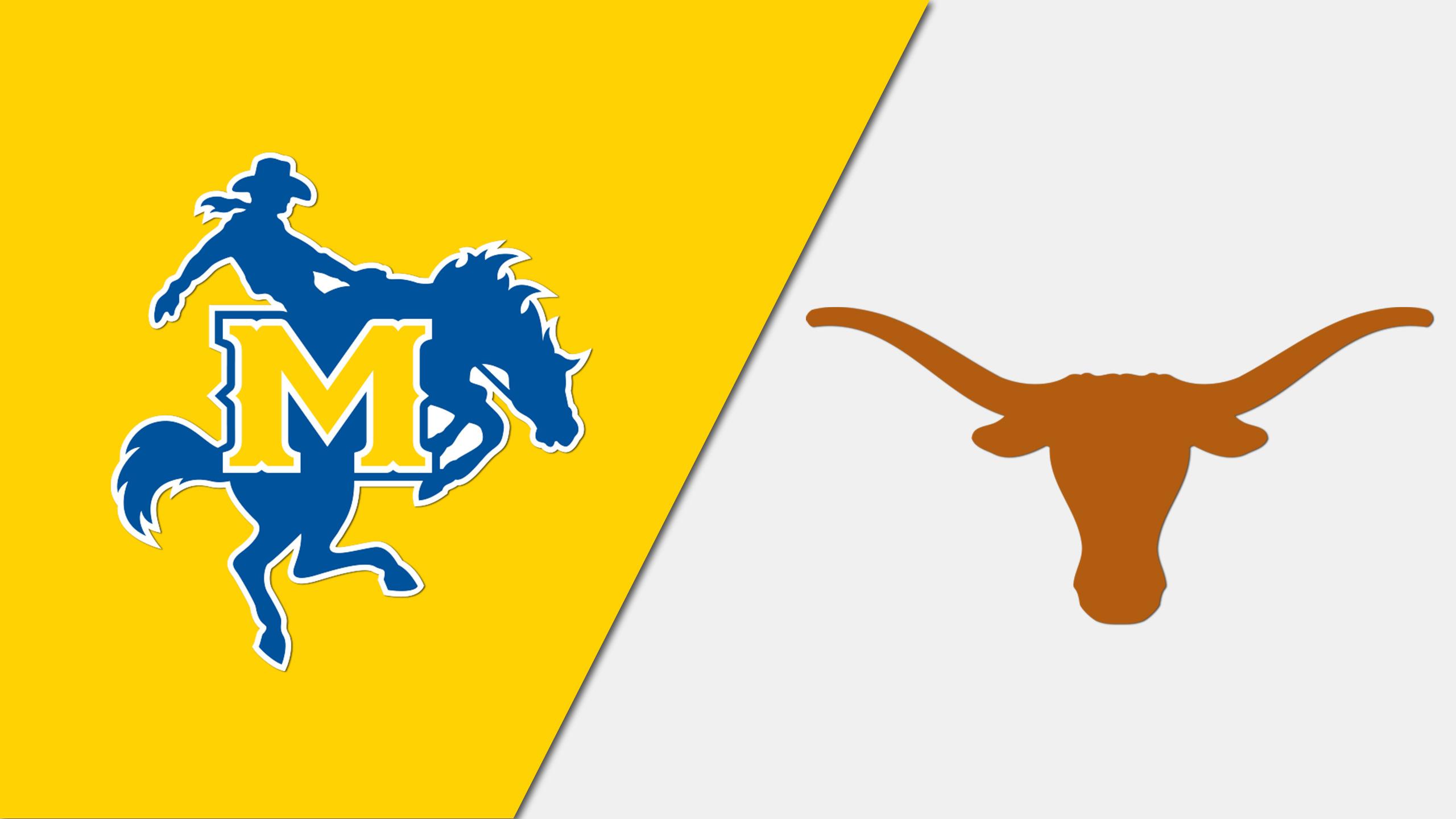 McNeese vs. #11 Texas (W Basketball) (re-air)