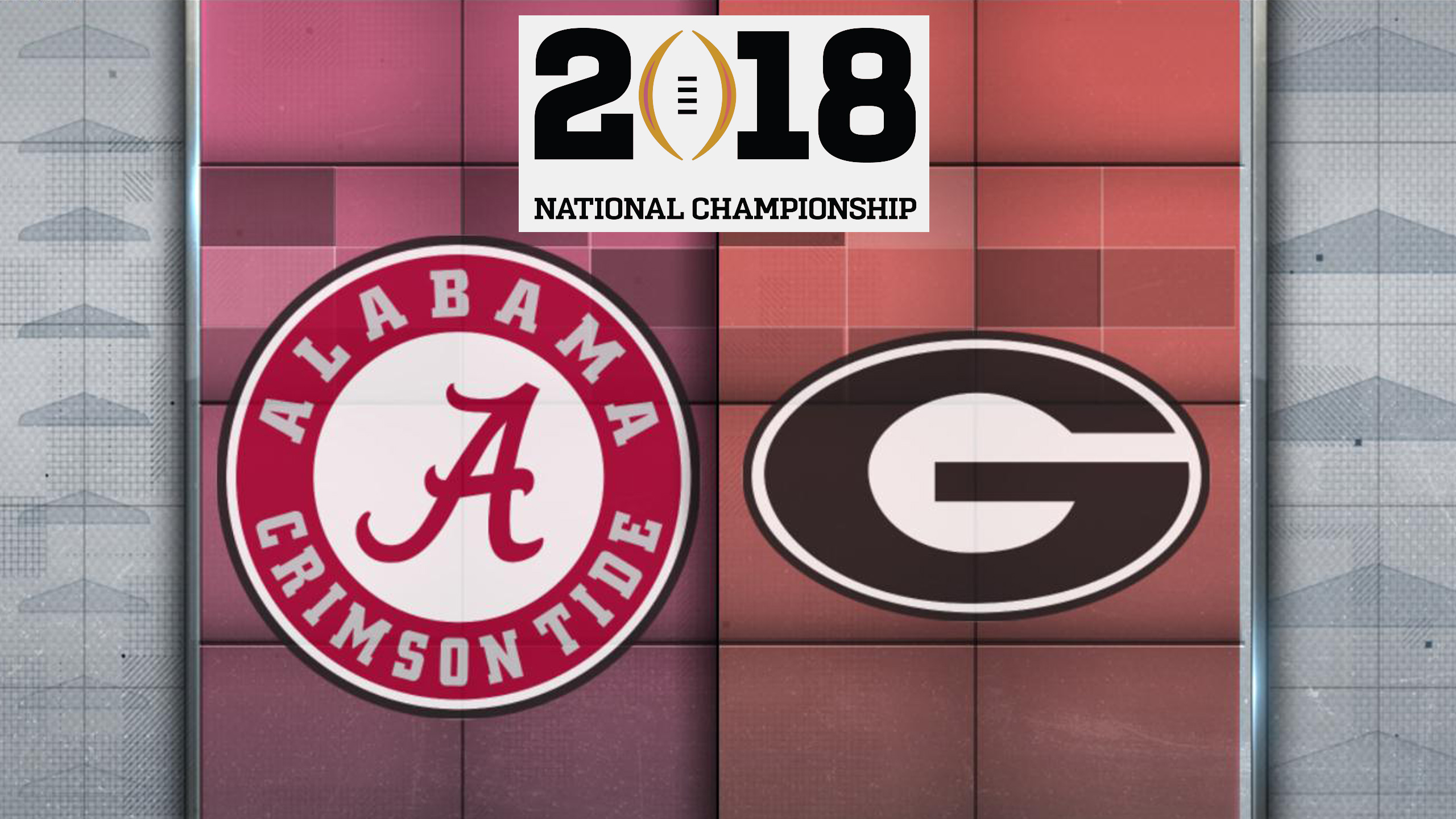 Alabama vs. Georgia - 1/8/2018 (re-air)