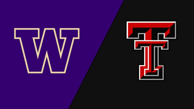 #1 Washington vs. #19 Texas Tech (Softball)