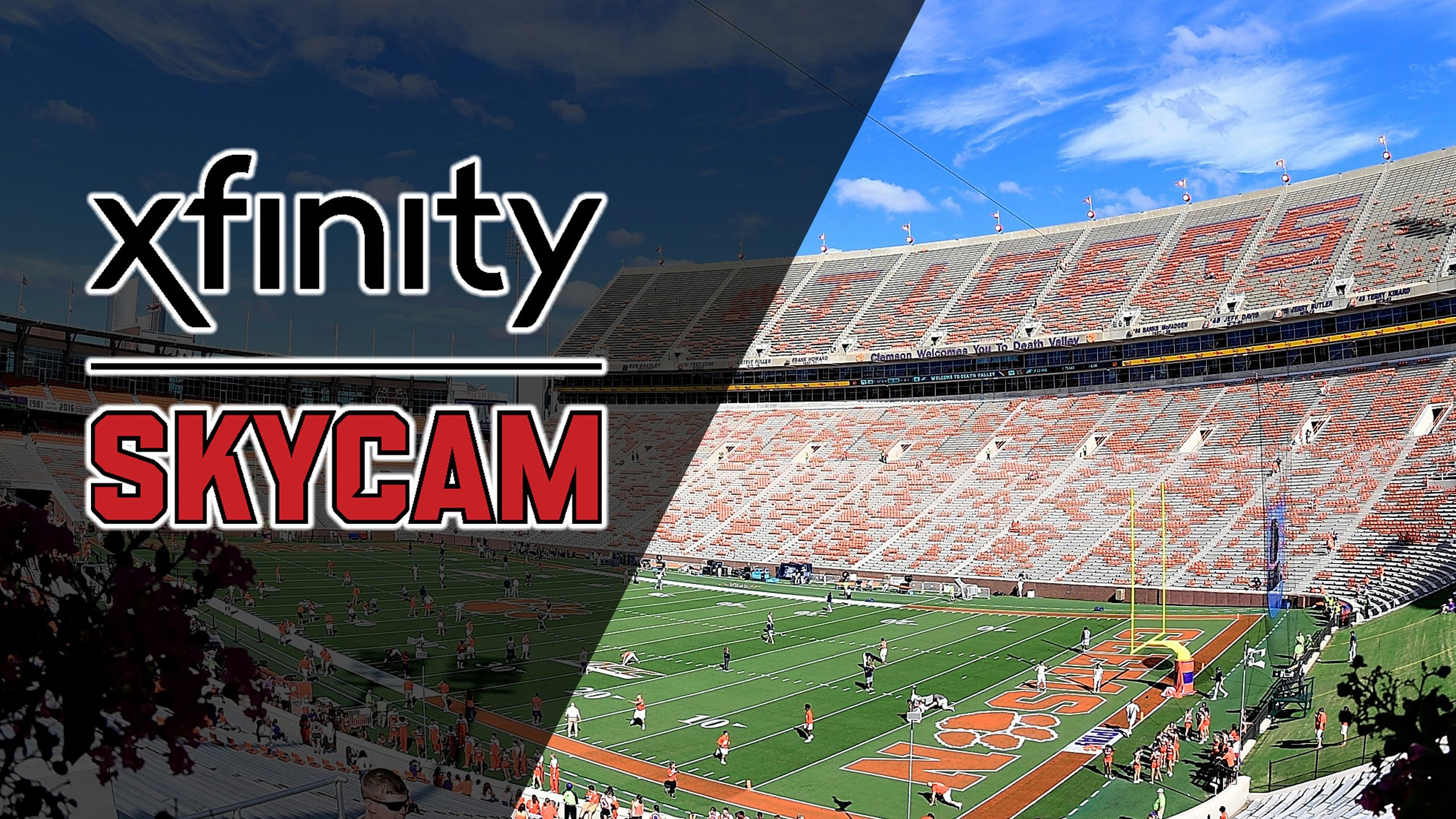 Skycam - #16 NC State vs. #3 Clemson (Football)