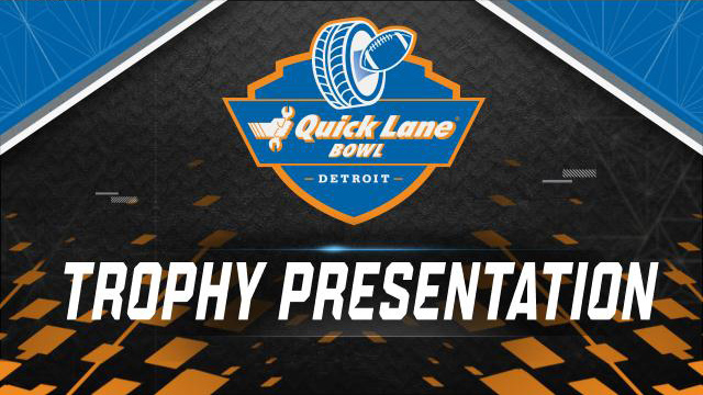 Quick Lane Bowl Trophy Ceremony (Bowl Game)