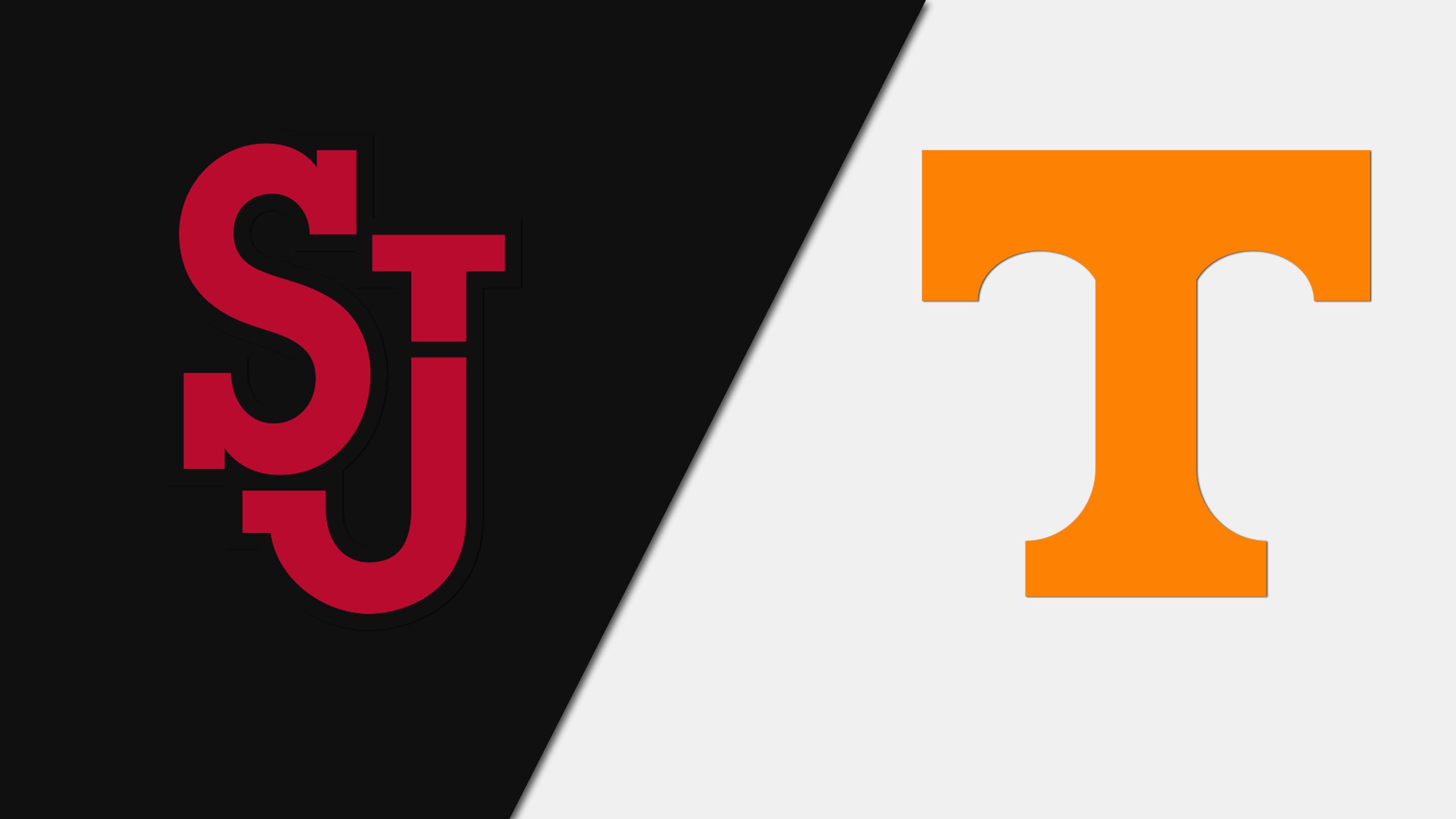 St. John's vs. #25 Tennessee (W Soccer)