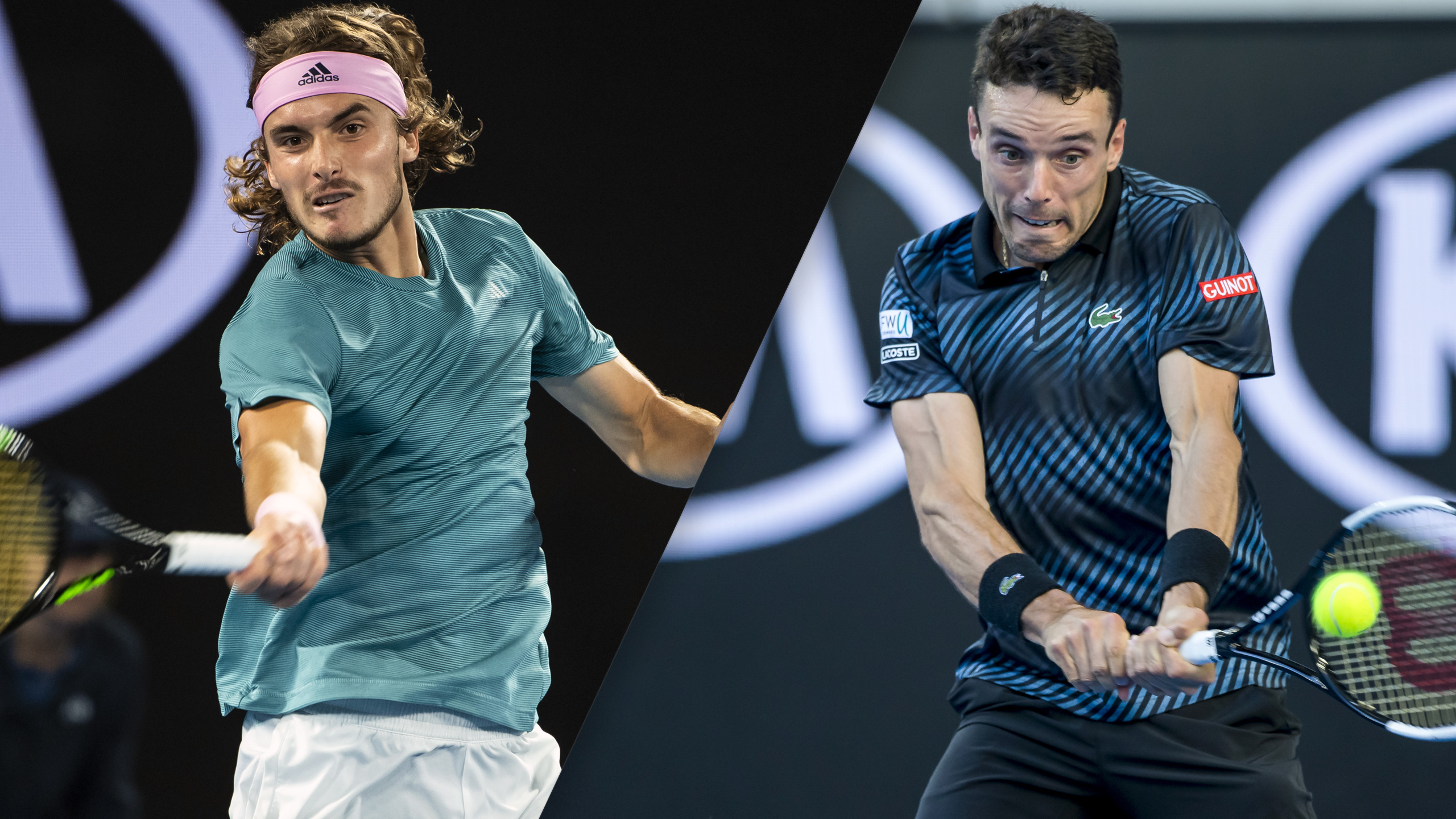 (14) Tsitsipas vs. (22) Bautista Agut (Men's Quarterfinals)