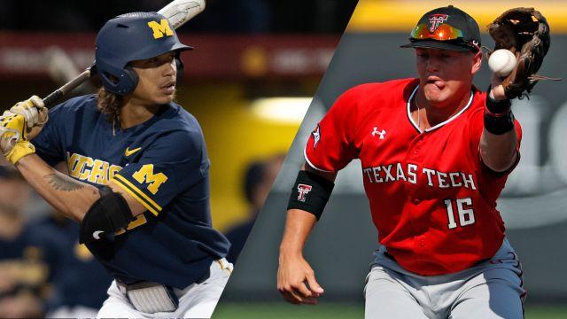 Michigan vs. #8 Texas Tech (Game 1) (College World Series)