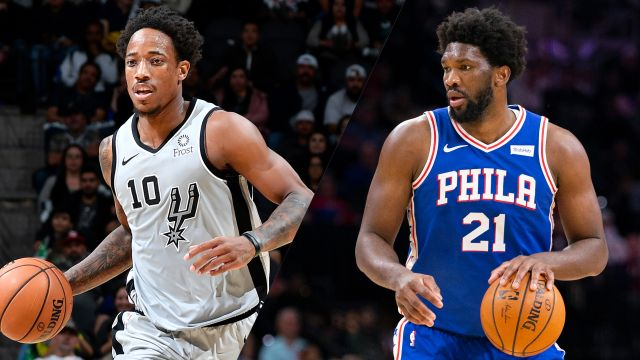 In Spanish-San Antonio Spurs vs. Philadelphia 76ers