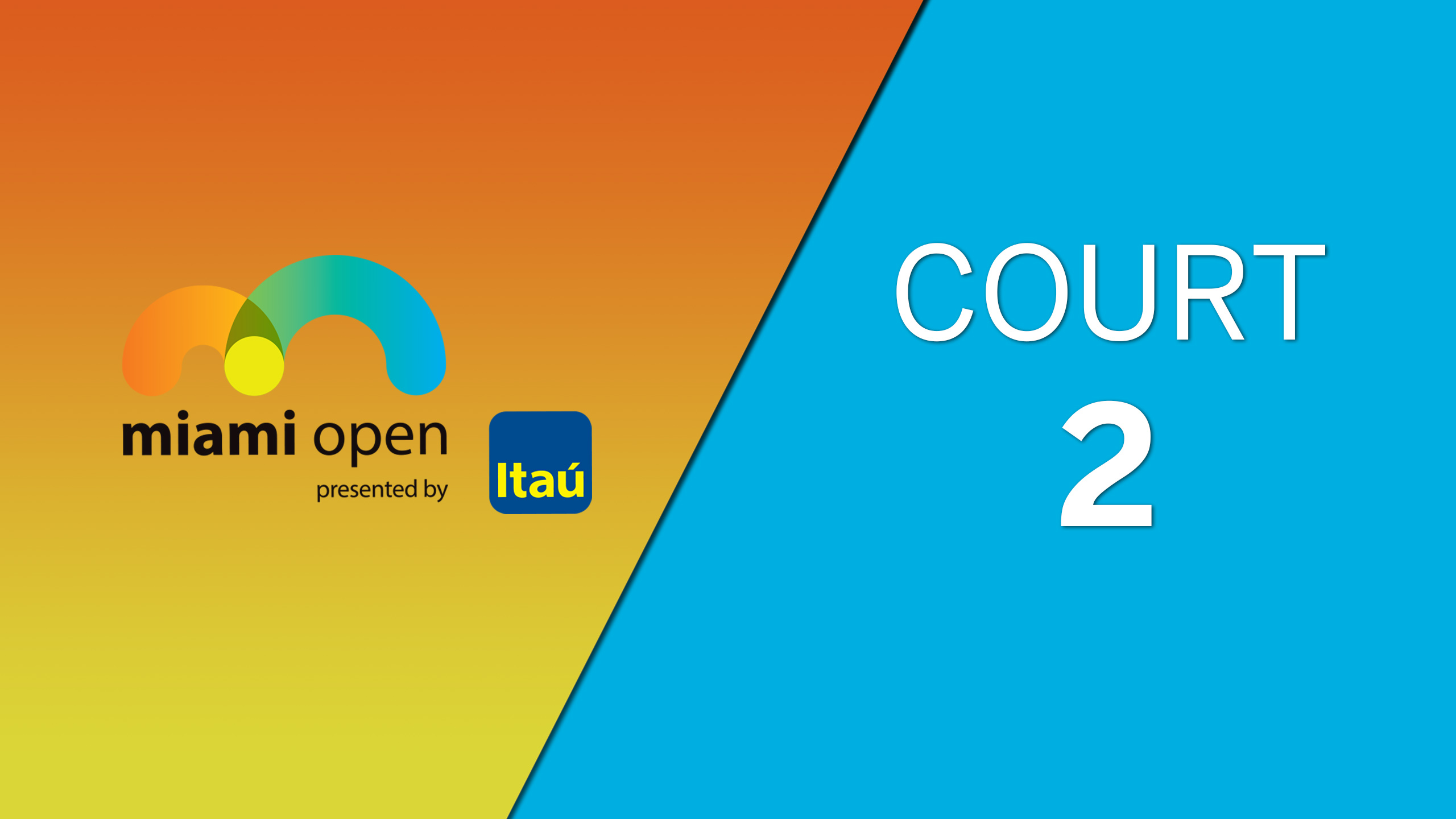 WTA: Court 2 - Miami Open