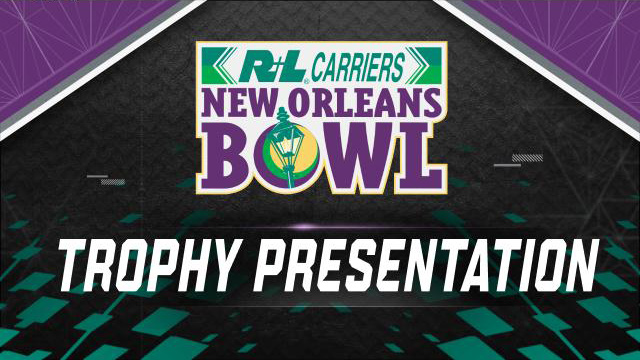 R+L Carriers New Orleans Bowl Trophy Ceremony (Bowl Game)