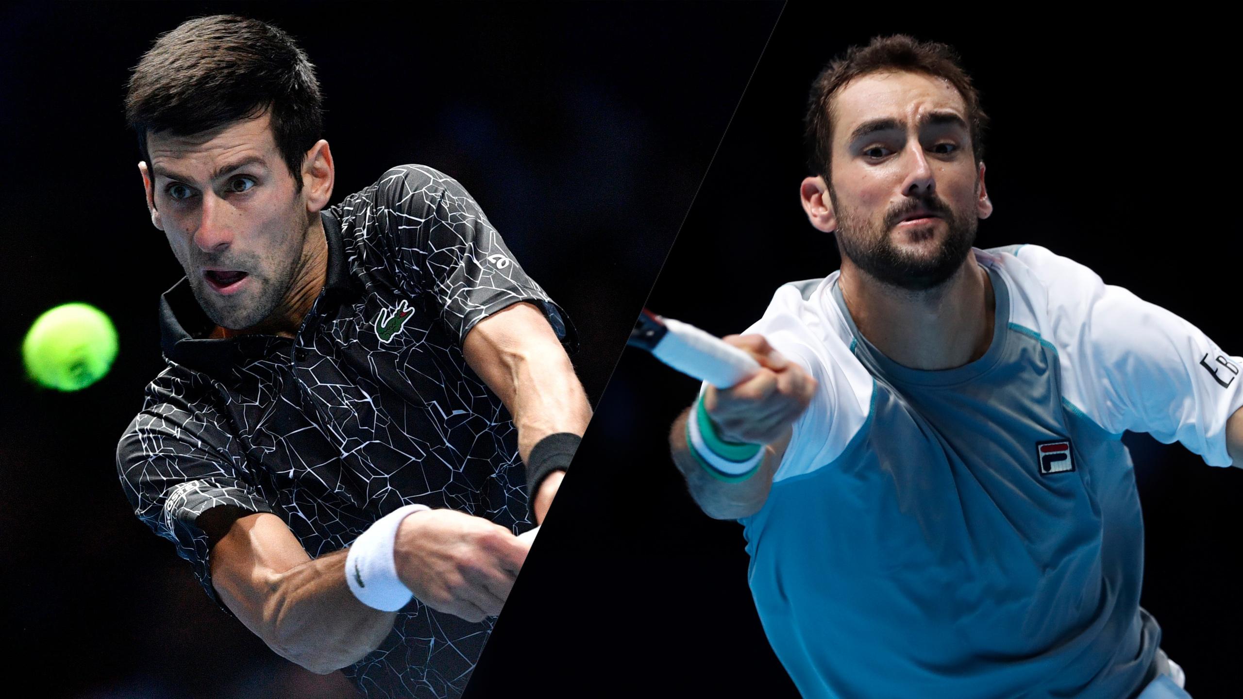 (1) Djokovic vs. (5) Cilic (Round Robin)