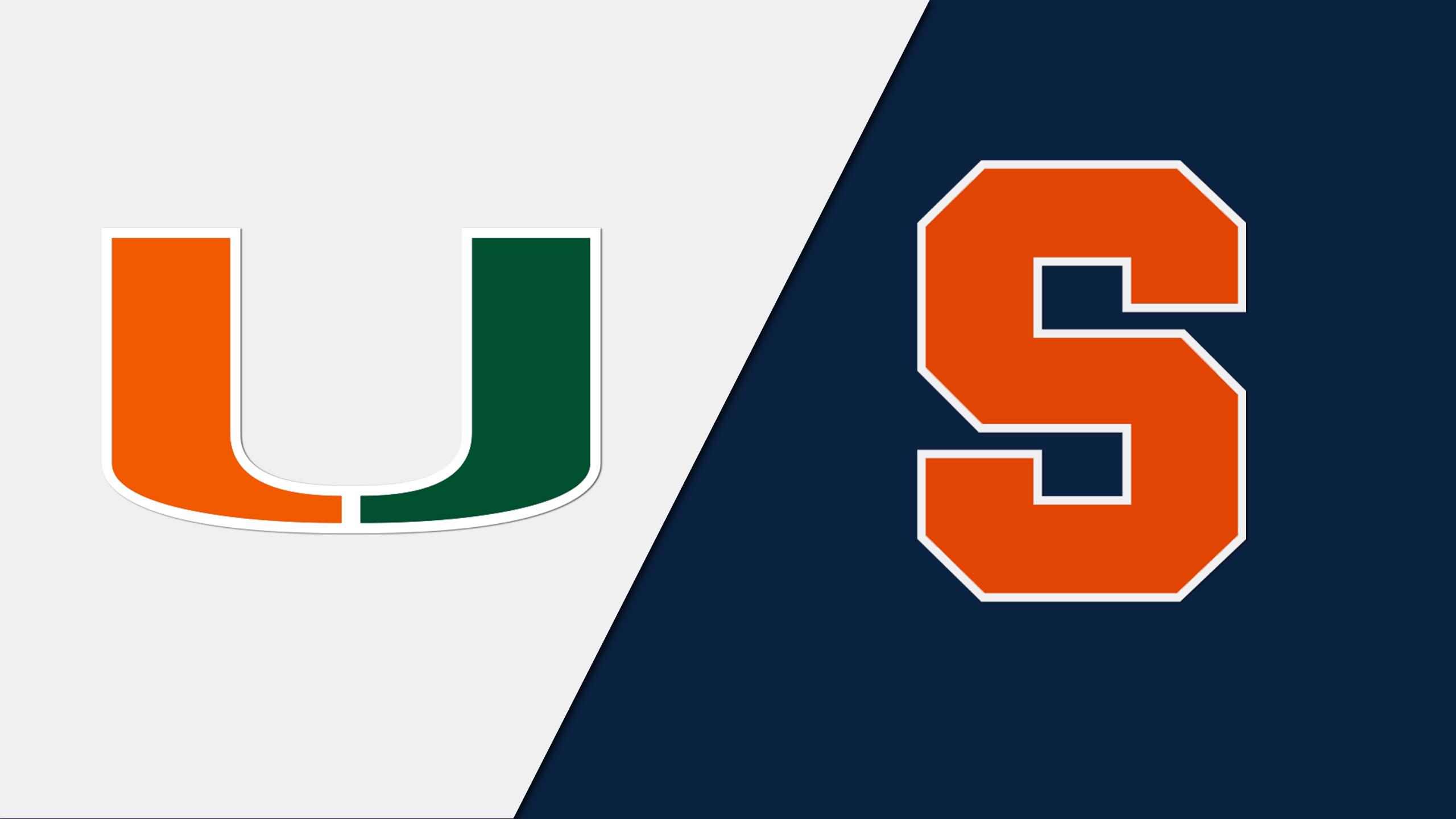 Miami vs. Syracuse (M Basketball)