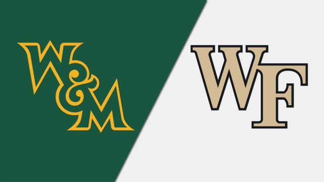 William & Mary vs. #4 Wake Forest (M Soccer)