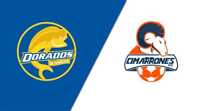 In Spanish-Dorados de Sinaloa vs. Cimarrones de Sonora (Cuartos de Final, Partido de Ida) (Ascenso MX)