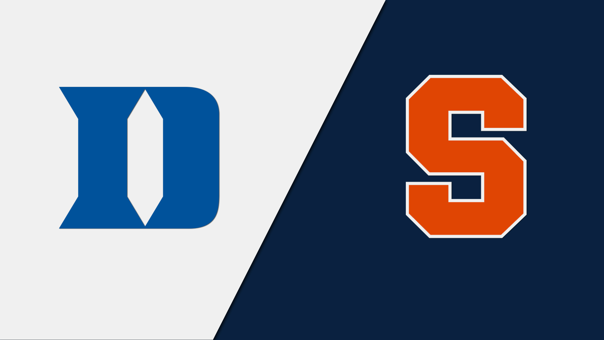 Duke Blue Devils vs. Syracuse Orangemen (M Basketball) (re-air)