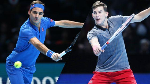 (2) Federer vs. (6) Thiem (Round Robin)