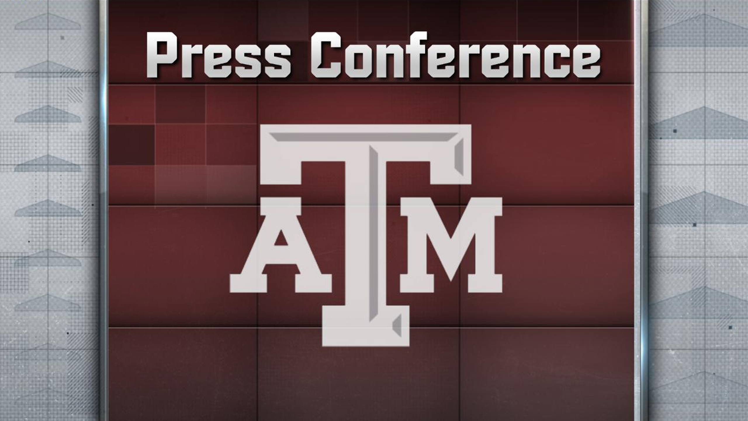 Texas A&M Football Press Conference