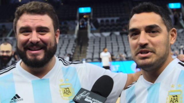 Argentinos cruzam continente para acompanhar Ginóbili