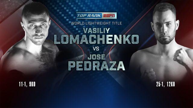 In Spanish-Vasiliy Lomachenko vs. Jose Pedraza