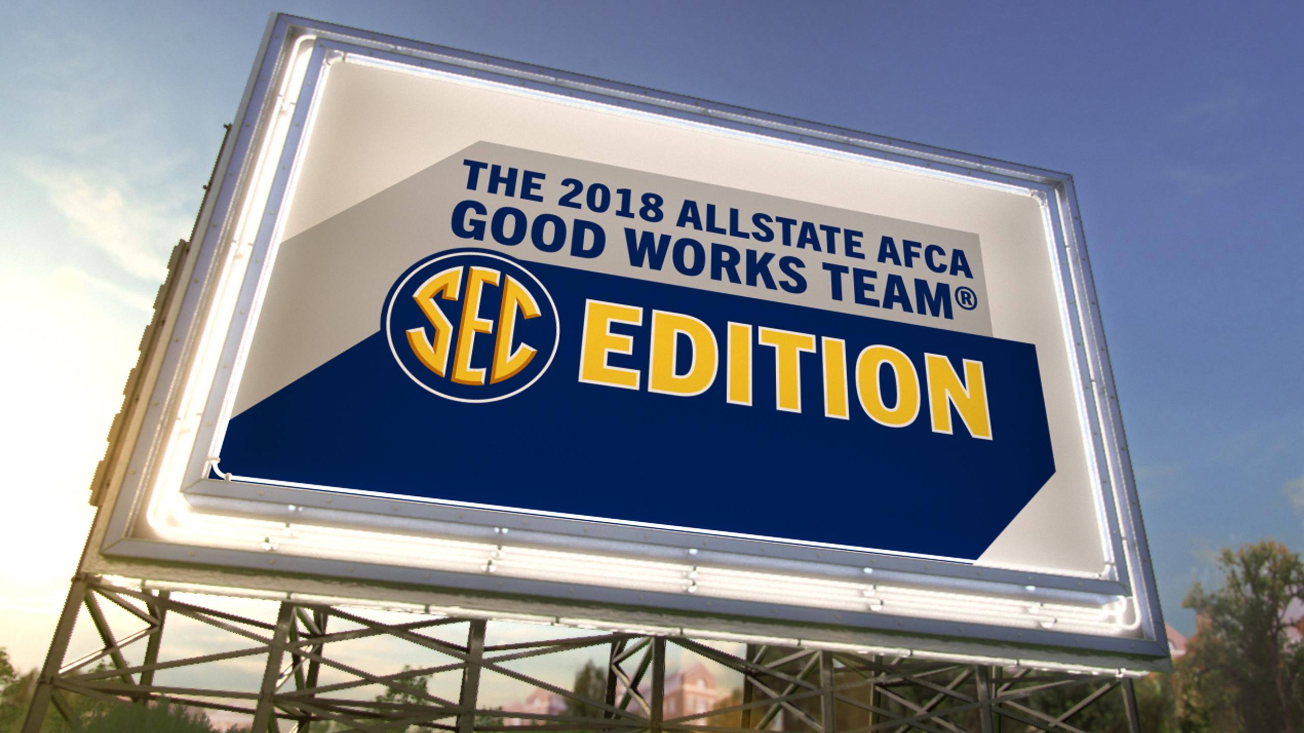 The AllState AFCA Good Works Team - SEC Edition