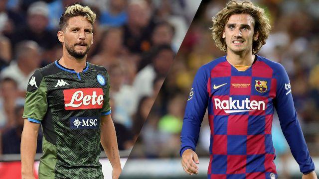 In Spanish-Napoli vs. Barcelona (International Friendly)