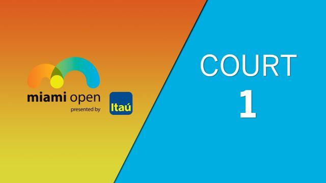 WTA: Court 1 - Miami Open