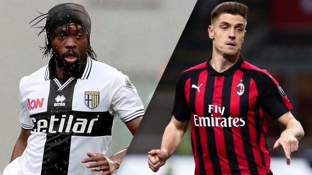 In Spanish-Parma vs. AC Milan (Serie A)