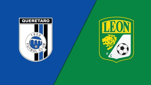 In Spanish-Gallos Blancos de Querétaro vs. Club León (Jornada 6) (Liga MX)