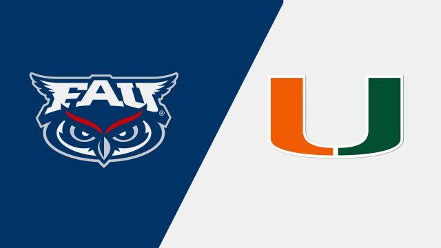Florida Atlantic vs. Miami (M Tennis)