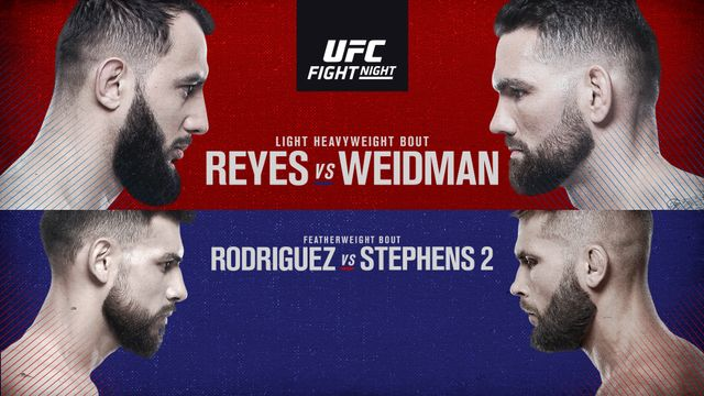 UFC Fight Night presented by Modelo: Reyes vs. Weidman (Main Card)